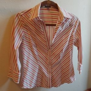 Ann Taylor Striped Button Down